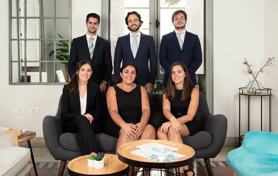 Equipo de trabajo despacho de abogados Olarte Perez en Las Palmas